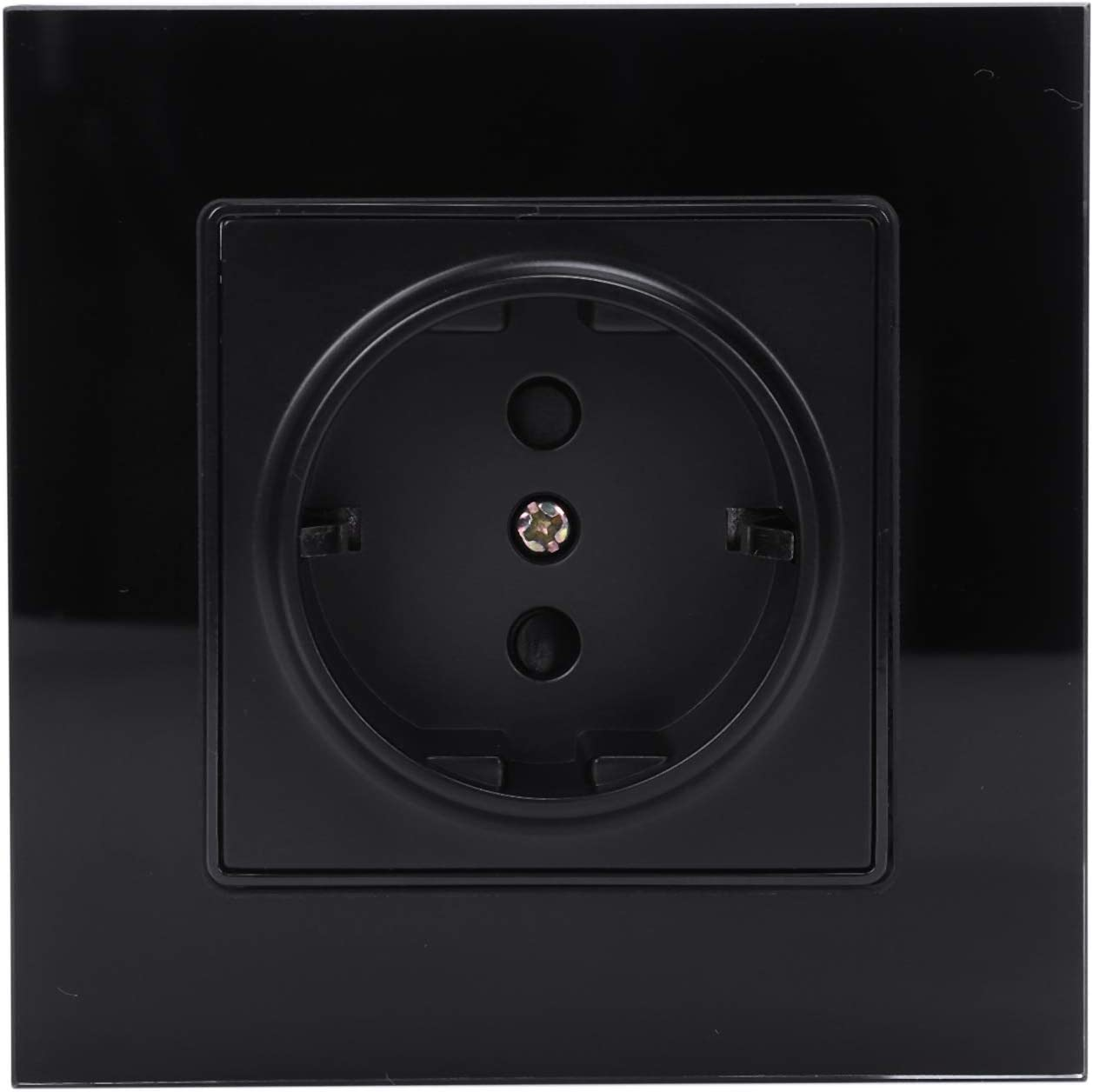 VAILANG EU Prise /électrique Murale avec Deux Ports USB en Verre tremp/é