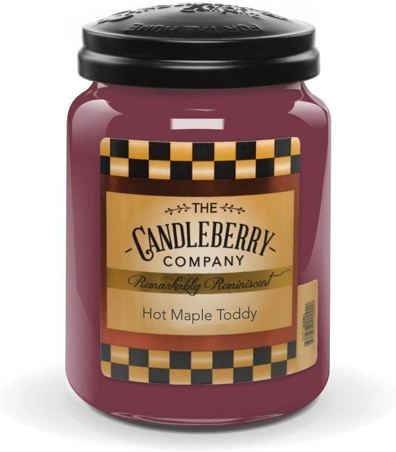 Candleberry Candles | Hot Maple Toddy | Best Candles on The Market | Hand Poured in The USA | Highly Scented & Long Lasting | Large Jar 26 oz.