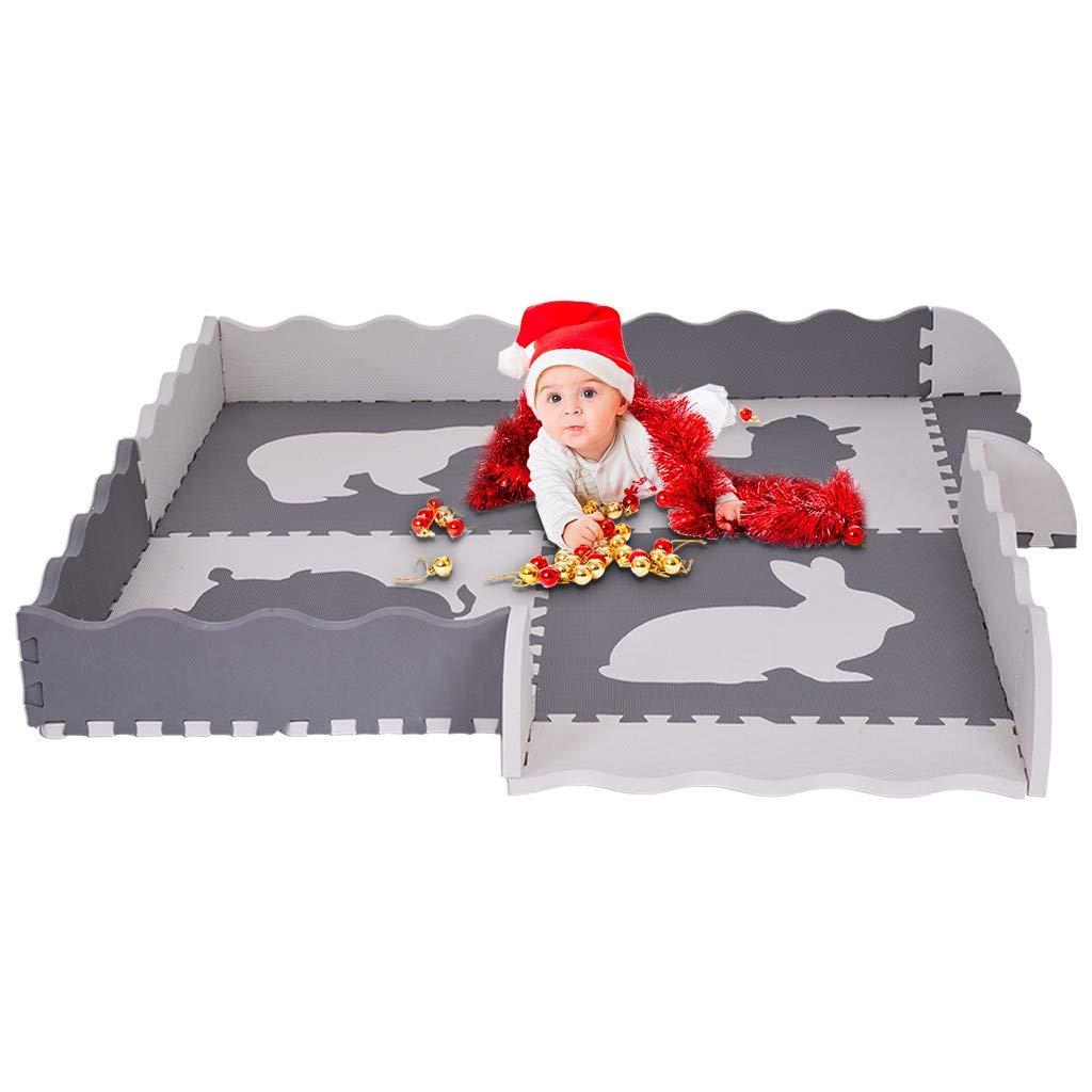 Baby Play Mat - Large Foam Interlocking Floor Tiles, Extra Thick Interlocking Foam Children's Portable Playmats ATRISE by ATRISE_Toys