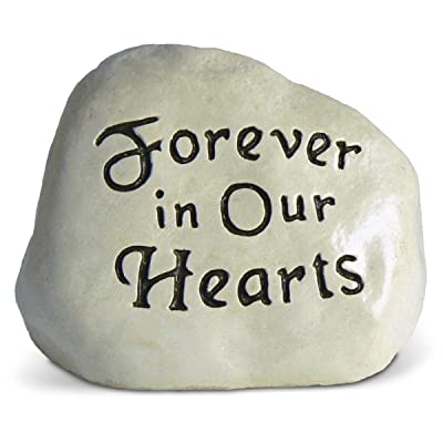 Forever in Our Hearts Engraved in a Heavy Little Rock : Garden & Outdoor