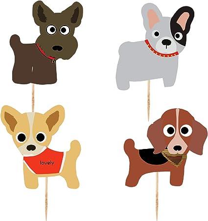 Amazon.com: Adornos para cupcakes para perro, suministros de ...