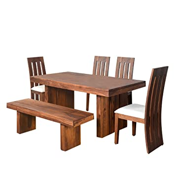 f66bc18cca1 home by Nilkamal Delmonte Six Seater Dining Table Set (Brown ...