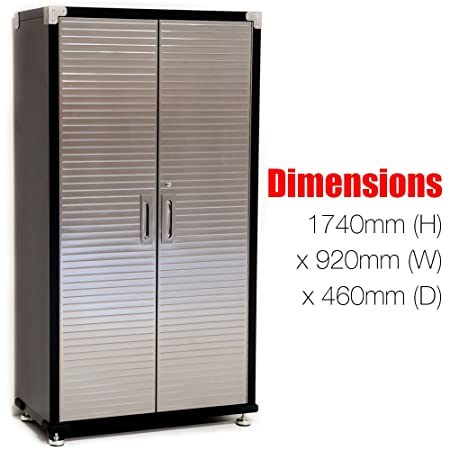 Garage Storage Cabinet By Seville Heavy Duty Workshop Quality Metal Shelves