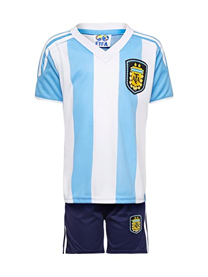 competitive price 3f595 d06ad Sportyway Unisex Kid's Argentina Football Jersey Set (5-6 Years)