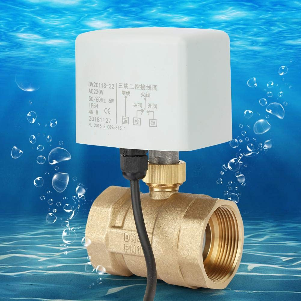 6W Power Electric Ball Valve AC 220V Voltage 25s Action time 1.6mpa Working Pressure DN40 Ball Valve for Floor Heating Systems Air Conditioning Systems