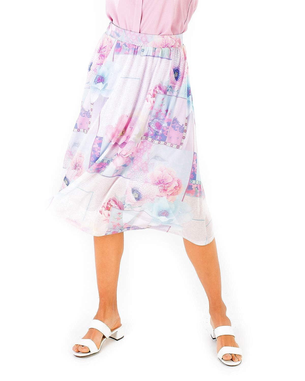 Smash! Falda de Estilo Romántico con Estampado Floral Falda Midi ...