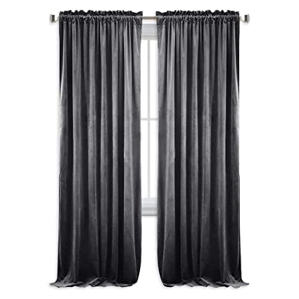 NICETOWN Living Room Blackout Velvet Curtains