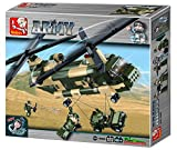 """Sluban Transport Helicopter """"Army - Chinook"""" Building Kit (520 Pieces)"""