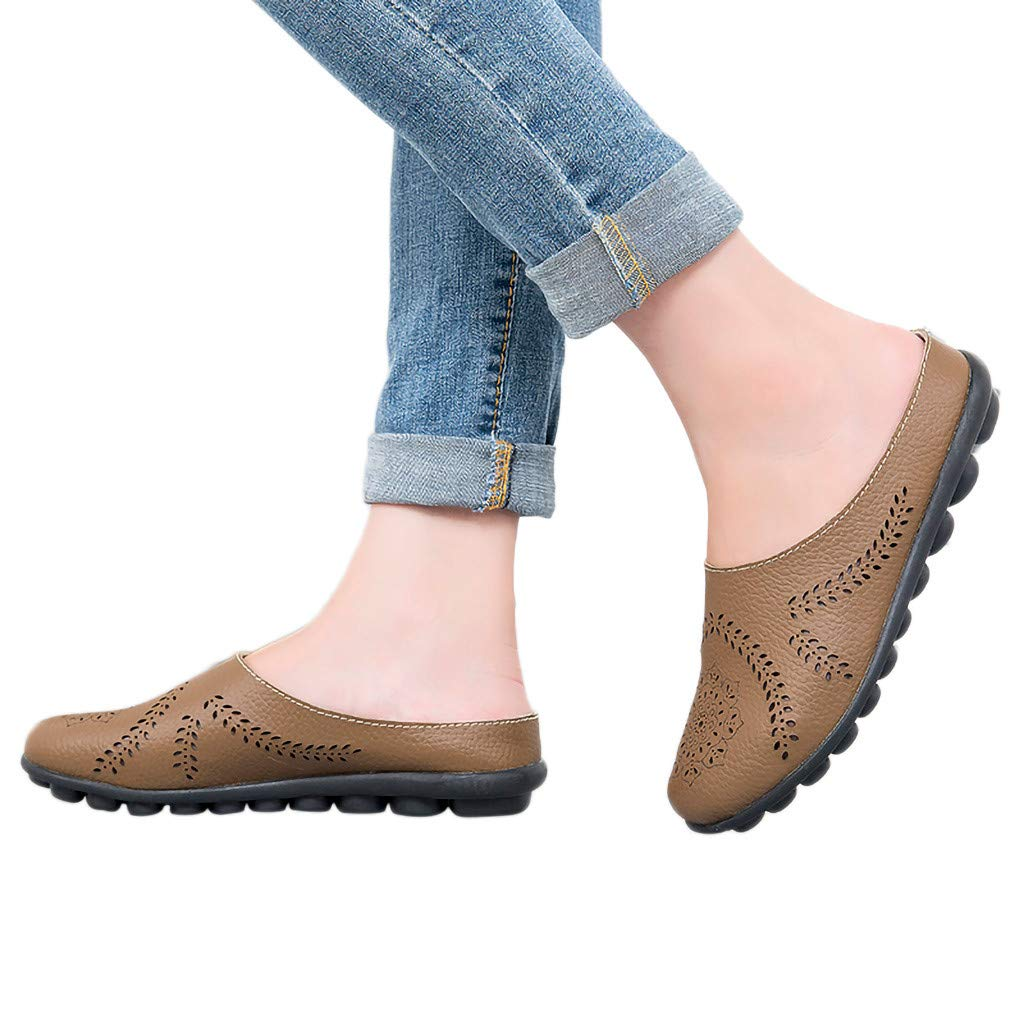 Women/'s Elastic Flats Shoes Ladies Breathable Casual Knit Slip On Shoes Sightly