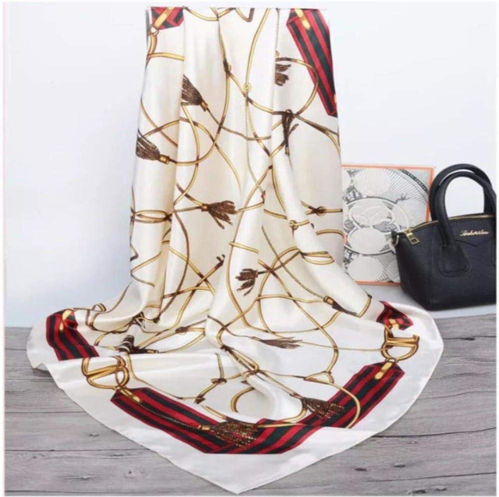 Miwaimao Donne di Seta Ruga 90 90cm Signore Hijab Foulard Quadrato Scialle di Chiffon Donne Sciarpa dellinvolucro della Sciarpa Scialle Sciarpa Quadrata,12,90x90cm