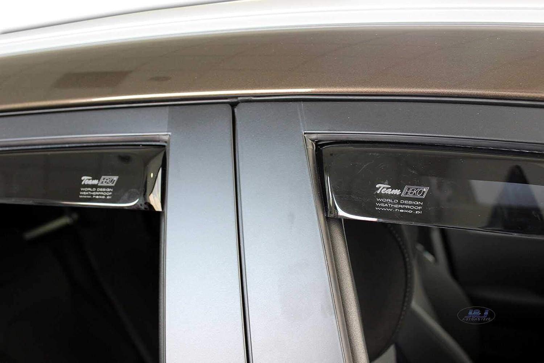 J/&J Deflectores de viento para Kia Carens 2012 4 piezas