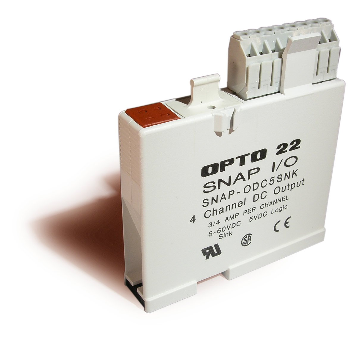 Opto 22 SNAP-ODC5SNK - SNAP Digital (Discrete) Output Module, Load Sinking, 4-Channel, 5-60 VDC