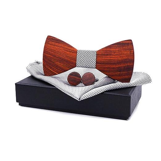 Pajarita de madera elegante y de moda Corbata de lazo de madera de ...