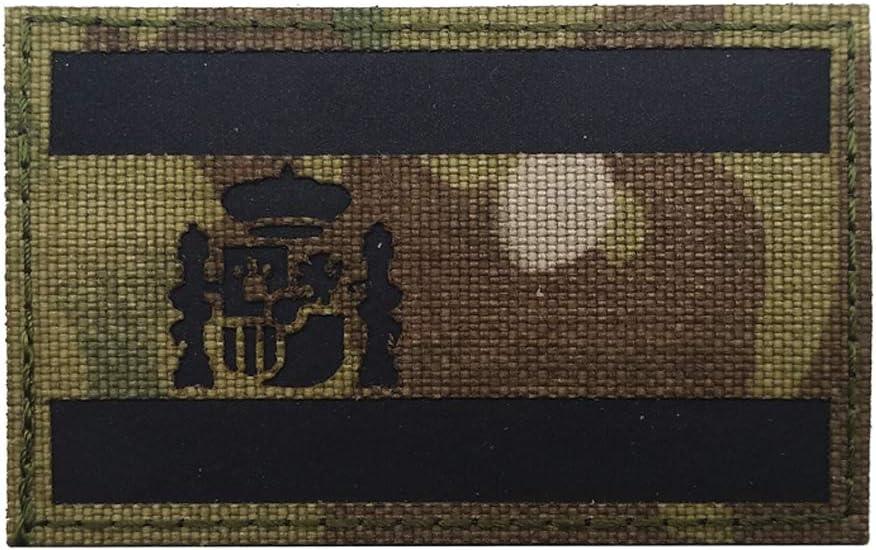 Parche reflectante con diseño de bandera nacional de España con ...