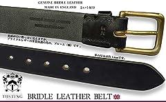 Tusting Bridle Leather Belt R04: Navy, Brown, Black