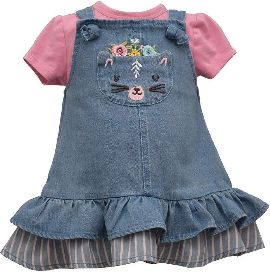 New Bonnie Jean Baby Toddler Girls House Jumper Shirt Set SZ 12 18 24 2T Months
