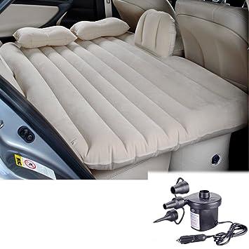 Aufblasbares Matratzenset mit Kissen f/ür das Auto mit elektrischer Luftpumpe