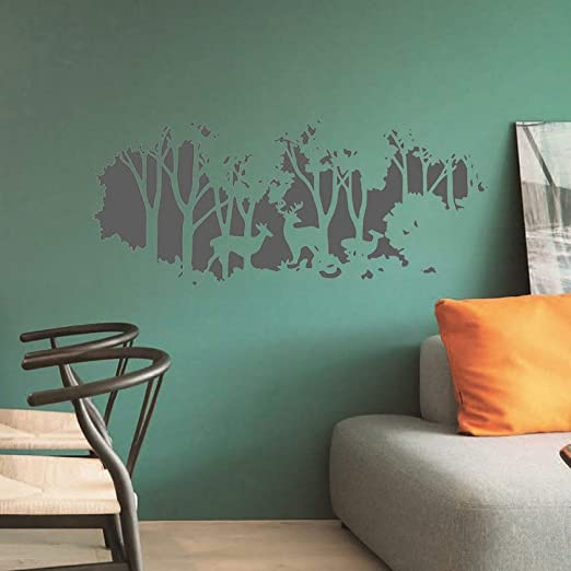 Ajcwhml Deer Forest Sticker Home Decor Dormitorio Salón Vinilo ...