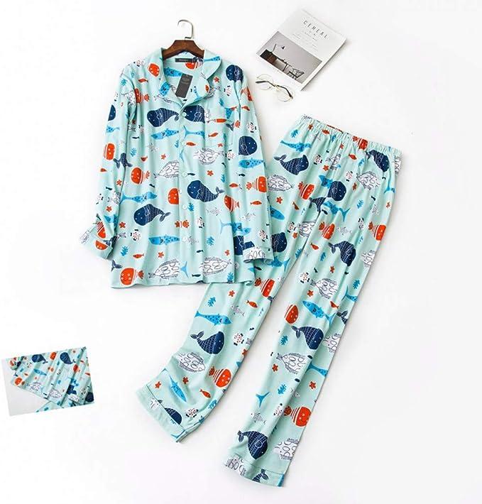 Pijamas de Hombre Pijamas de Peces de Dibujos Animados Conjuntos ...