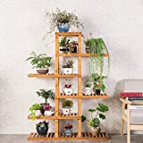 Solid wood flower shelf balcony multi - storey living room flower pot frame simple