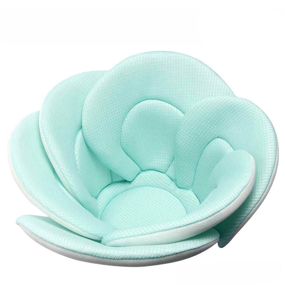 Baby Bath Cushion Sink Bather, Soft Quick Drying Bathtub Mat for Infant Bathing Tub Seat Support,Machine Washable,6-Petal Flower