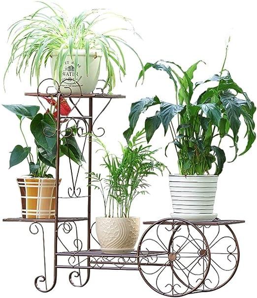 Soporte De Flores De 4 Capas De Hierro Forjado Macetas para Plantas Estante De Almacenamiento En