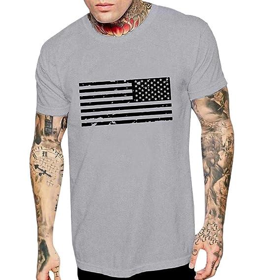 Camiseta para Hombre Camiseta de Manga Corta de algodón ...