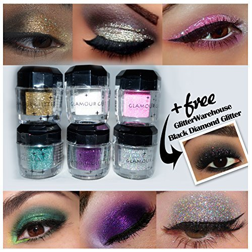 Beauty Treats Loose Glitter Powder for Eyeshadow, Eyeliner, Body Tattoo and More + Free Gw Glitter