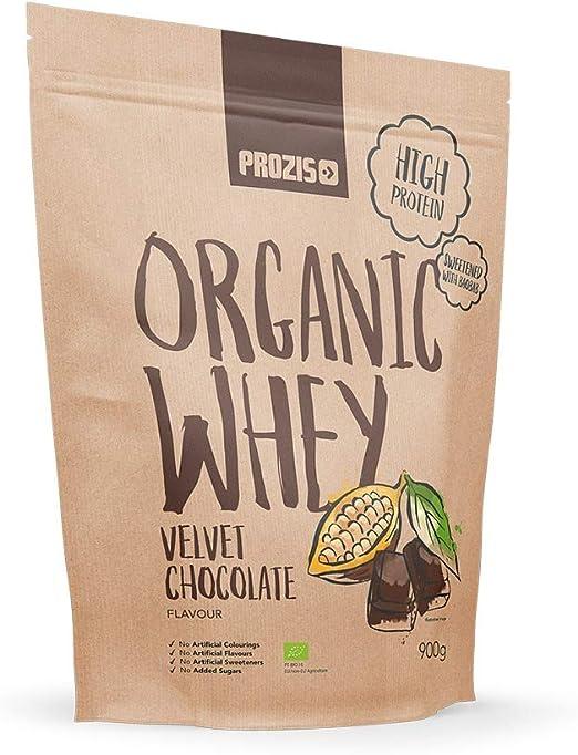 Prozis Organic Whey Protein 900 g Chocolate aterciopelado ...