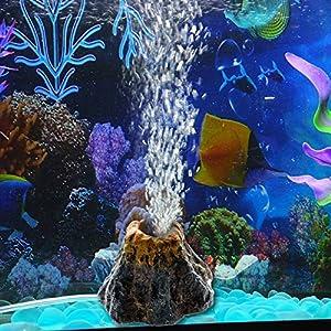 Slaxry Volcano Shape Air Bubble Stone Oxygen Pump Aquarium Fish Tank Ornament Decor