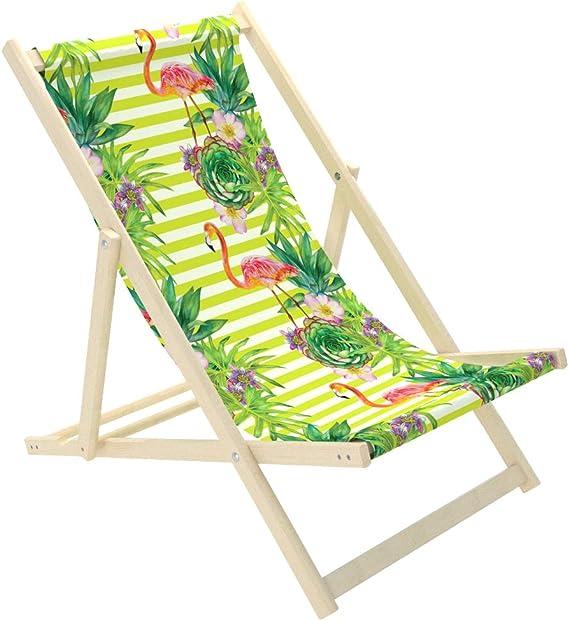 NOVAMAT Gartenliege aus Holz Klappbar Liegestuhl Relaxliege Strandstuhl