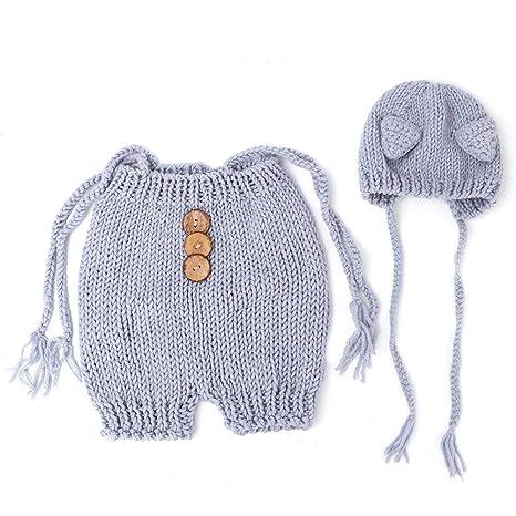Bebé recién nacido apoyos de la fotografía suéter y gorro ...