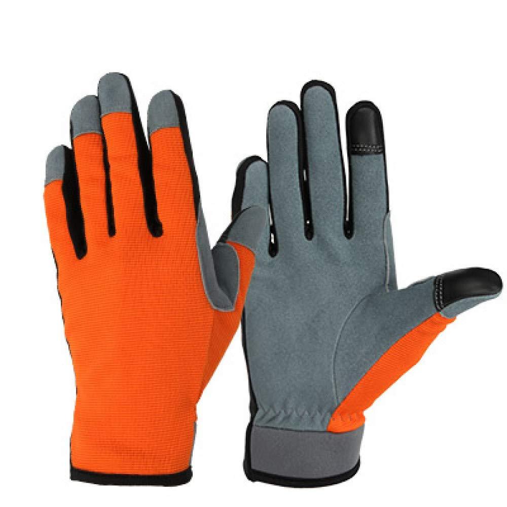 GLOVESCOA Laufhandschuhe Touchscreen Handschuhe Sport Outdoor Leder Moto Racing Radfahren Bike Handschuhe für Männer Frauen