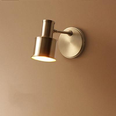 1411 Américain cuivre simple lampe frontale salle de bains miroir salle de la lampe allée lumières Nordique maison chambre lampe de chevet XQQQ