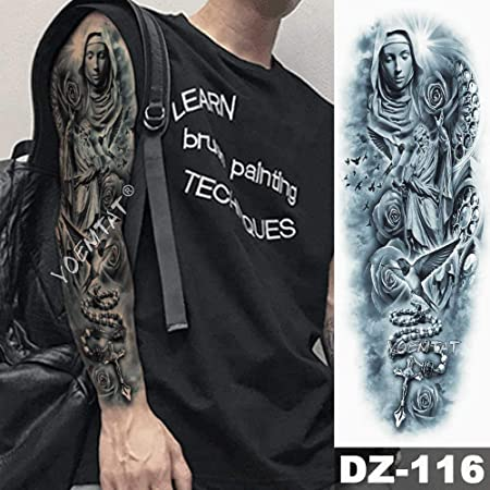 3 Piezas Gran Brazo Manga Tatuaje Corona de león Tatuaje ...