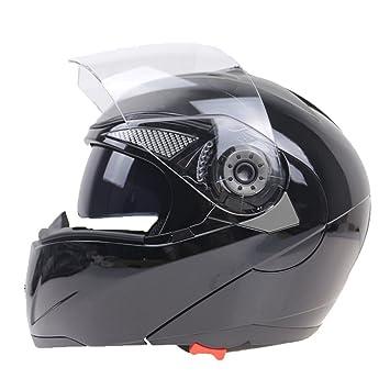 Off-Roady El Casco de Cristal Doble Profesional de la Motocicleta Levanta el Casco de