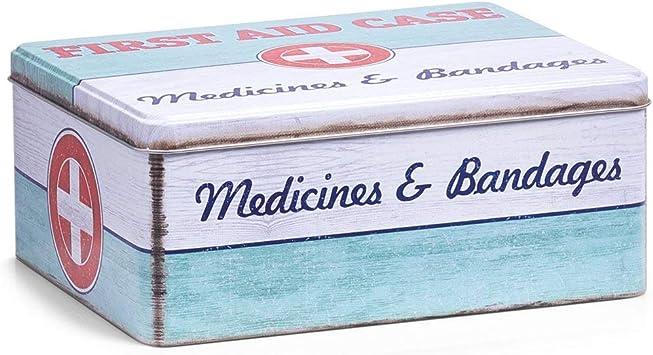 Zeller 19226 Medicinal First Aid – Caja, Metal, Aprox. 21 x 16,6 x ...