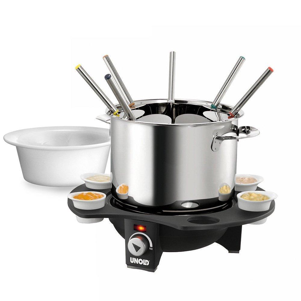edelstahl fondue set elektronisch von UNOLD