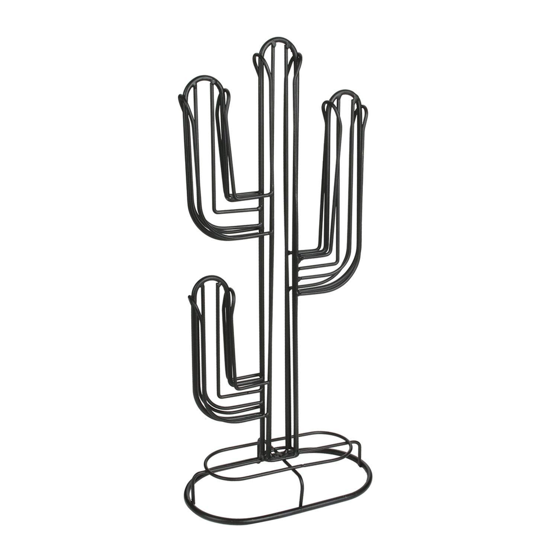 The Home Deco Factory Porte-Capsule Cactus –  H. 42, 2 cm –  Nero 2cm-Nero