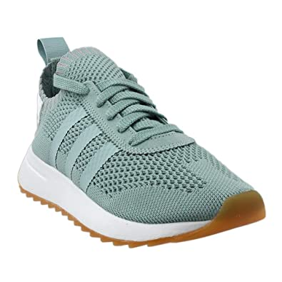 pretty nice f2089 22909 Amazon.com  adidas Womens Flashback Primeknit Shoe Tactile GreenWhite 5  M US  Fashion Sneakers