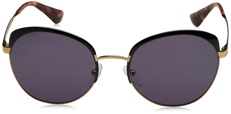 Prada Damen Sonnenbrille 0PR51TS LAX6O2, Schwarz (Antique Gold/Black/Violet), 56