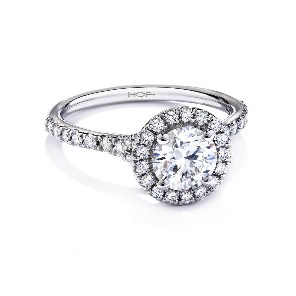 2.00 Carat Round Halo Simulated Diamond Engagement rings for women in 18k Gold Over Solid 925 Silver