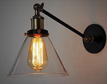 Ao laite wall lamp américain industriel verre rétro verre titan