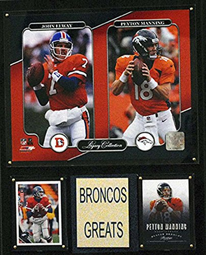 NFL Denver Broncos John Elway/Peyton Manning 12x15-Inch Legacy Collection Plaque from C&I Collectables