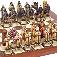 Crusade Chessmen & Astor Place Board From Spain Large, King: 4 1/2""