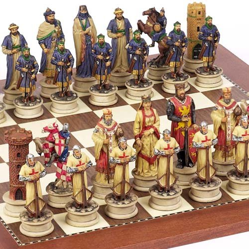 """Price comparison product image Crusade Chessmen & Astor Place Board From Spain Large,  King: 4 1 / 2"""""""