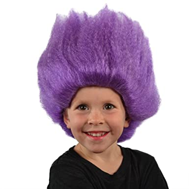 Amazon.com: Mi traje Pelucas púrpura Troll peluca (Morado ...