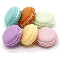 Macaron Case, 6 pcs Mini Macaron Box, Macaron Jewelry Box, Macaron Cute Pill Box, Colorful Macaron Jewelry Storage Box…