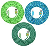 10ft Hi-Speed Braided Lightning Cable for iPhone 6s, 6, 6 Plus (teal blu grn)