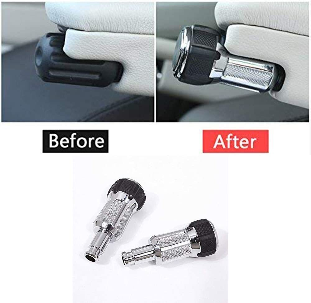 YIWANG Zinc Alloy Seat Armrest Box Adjustment Konbs for Range Rover Sport L405 2014-2019, for Range Rover Vogue LR405 2013-2019, for Discovery 5 LR5 2017-2019 Replacement Parts
